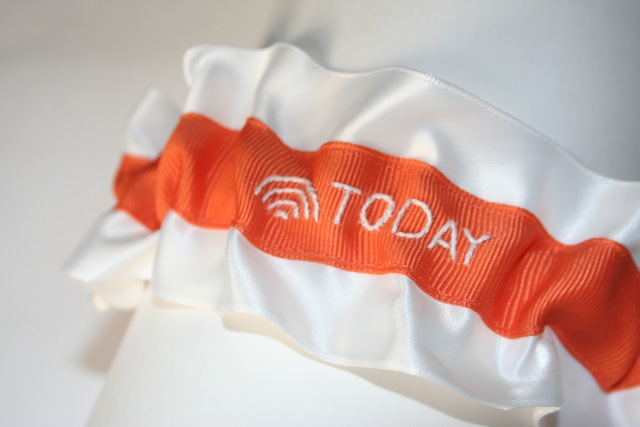 stylish wedding garter with nbc today show logo