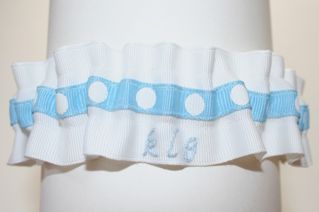 stylish wedding garter hand embroidere for kathie lee gifford