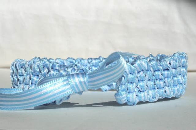knitted wedding garter - main
