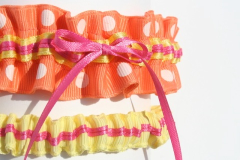 tropical wedding garter