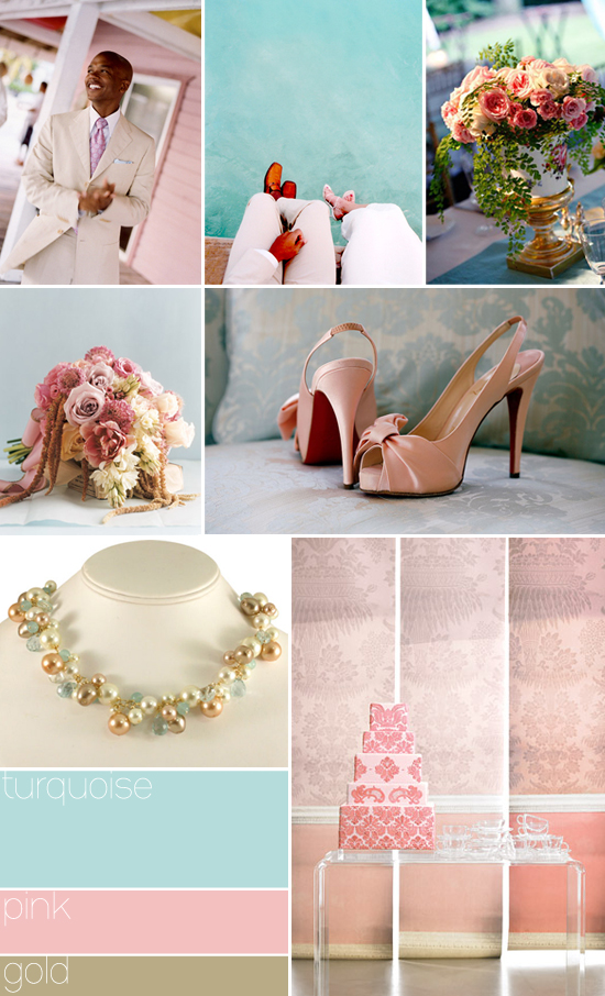 turquoise pink amp gold inspiration wedding garters