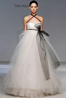 Inspired by Vera Wang? White & Black Modern, Stylish Wedding Garter