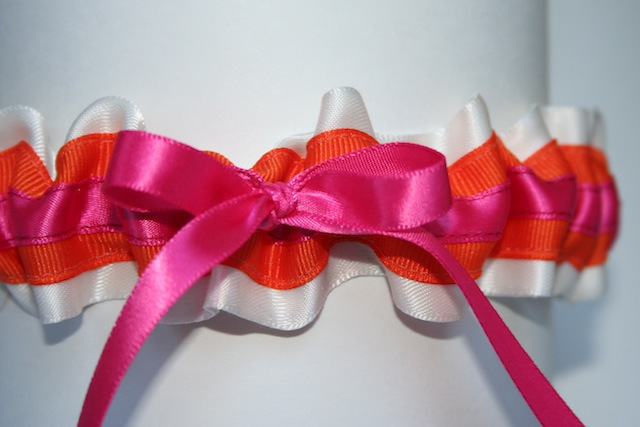 I love the orange and hot pink color combination