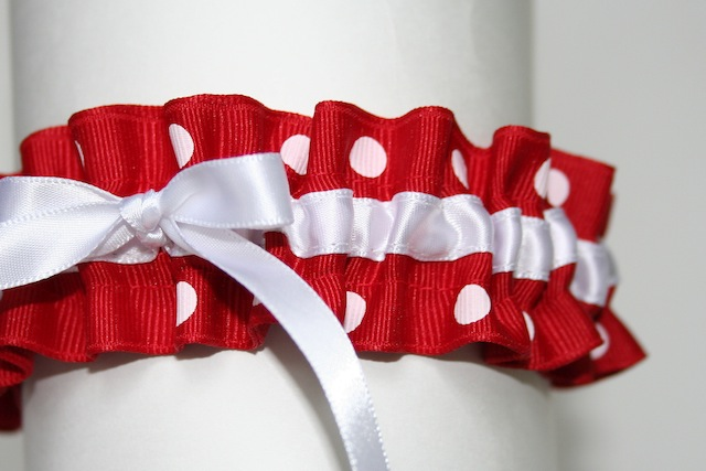 On the flip side here is a fun and flirty way to wear red on your wedding