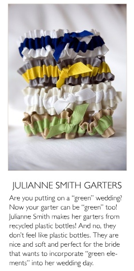 eco friendly wedding garters feature in izzy magazine garter girl by julianne smith