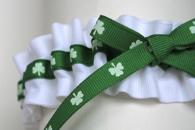 Happy St. Patrick\'s Day Wedding Garter